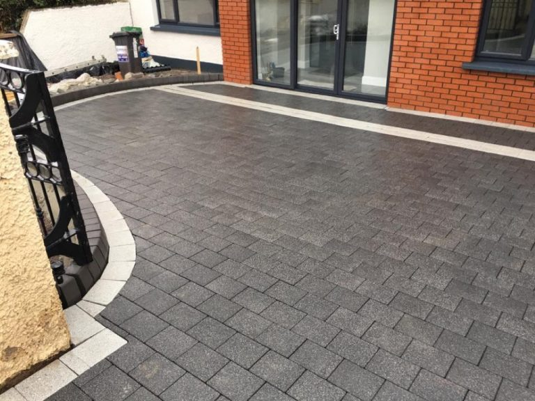 New Paved driveway installation